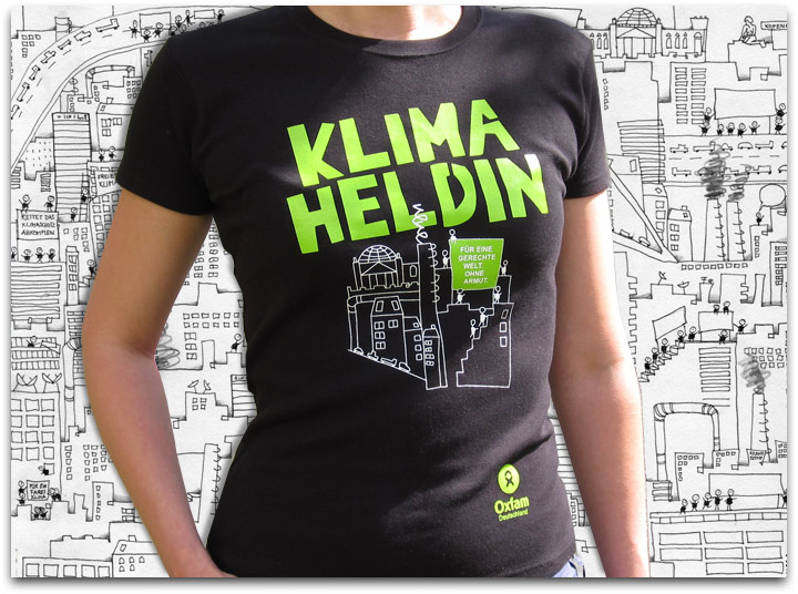 Illustration T-Shirt Klimaheldin